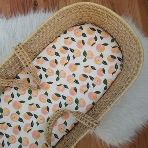 Watercolor Peaches Baby Bedding