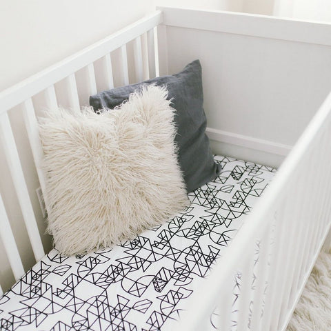 Graphic Abstract Geometric Nursery Baby Bedding Crib Sheet