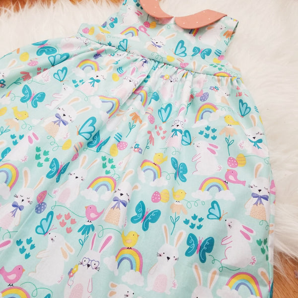 Handmade Girl's Cotton Easter Party Dress