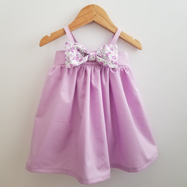 Lavender Purple Toddler Girl's Summer Sundress