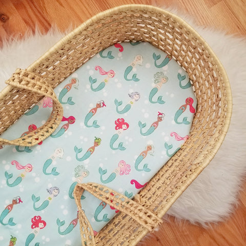Aqua Mermaids Baby Bedding