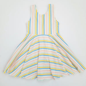 Pastel Stripes Twirl Dress