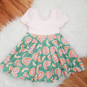 Tutti Frutti Watermelon Twirl Dress