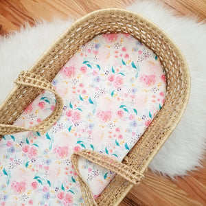 Bright Watercolor Floral Baby Bedding