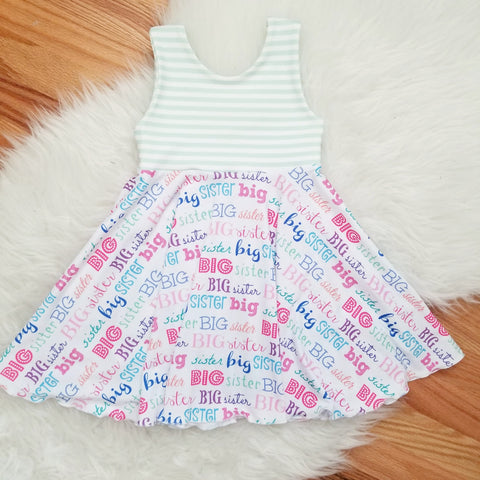 Big Sister Celebration Twirl Dress
