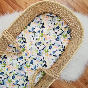 Organic Watercolor Floral Baby Bedding