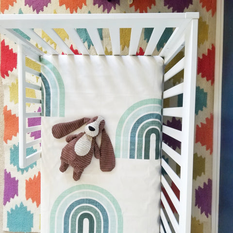 Oversized Boho Rainbow Baby Bedding