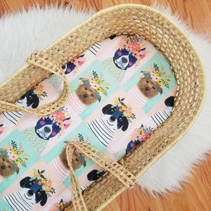 Floral Pets Baby Bedding