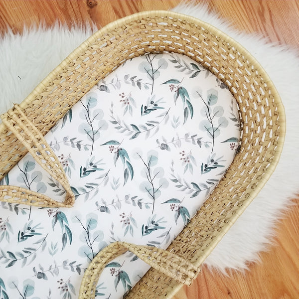 Watercolor Eucalyptus Baby Bedding