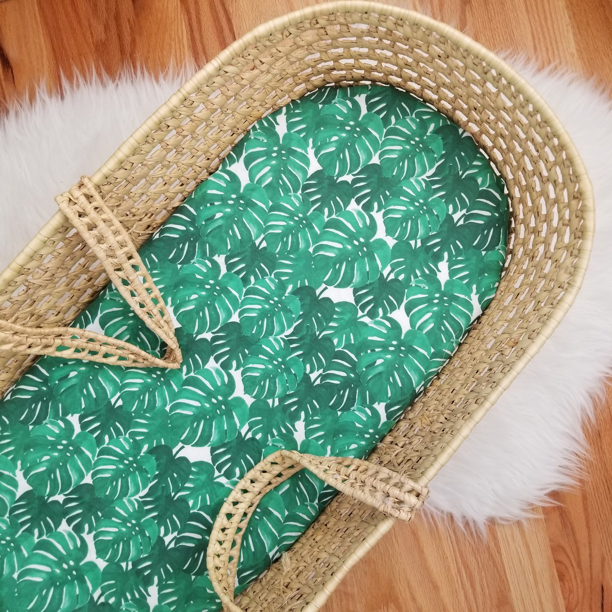 Tropical Leaves Baby Bedding
