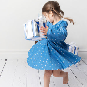 Girls Hanukkah Twirl Dress