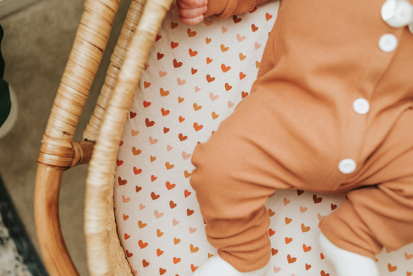 Boho Hearts Baby Bedding