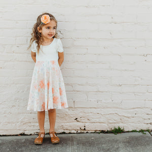 Watercolor Floral Twirl Dress