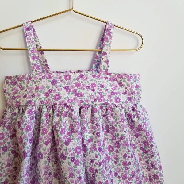 Girl's Babydoll Floral Spring Party Dress