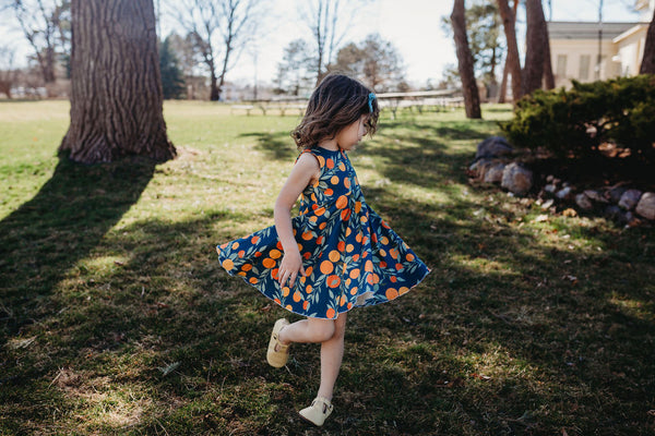 Tutti Frutti Oranges Twirl Dress