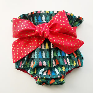 Belted Christmas Tree Bloomers