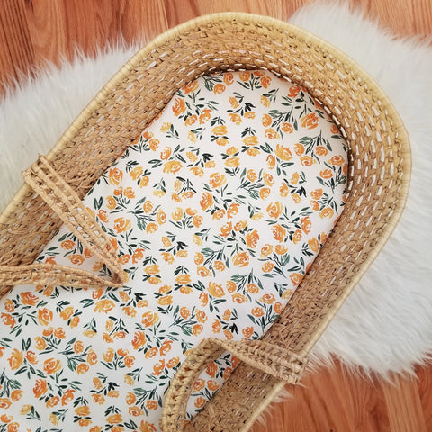 Golden Floral Baby Bedding