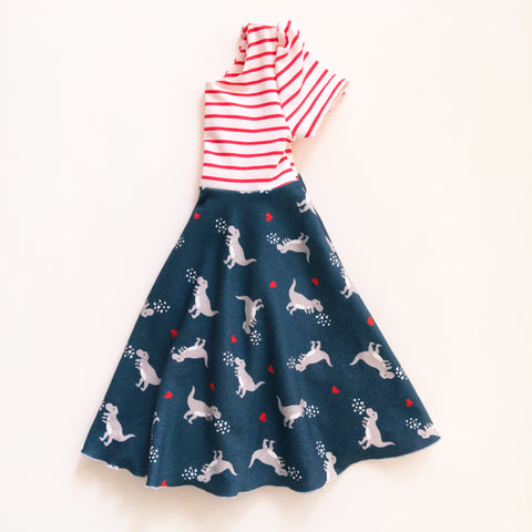 Dino Hearts Twirl Dress