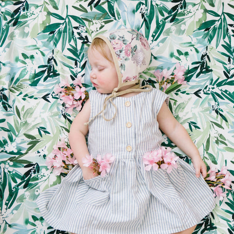Organic Boho Leaves Baby Bedding