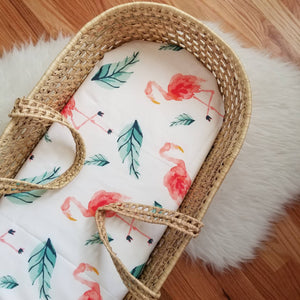 Tropical Flamingo Modern Nursery Handmade Baby Bedding