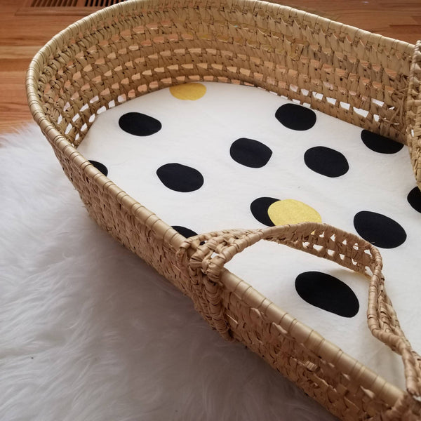 Organic Cotton Modern Nursery Decor Bassinet Sheet Baby Bedding
