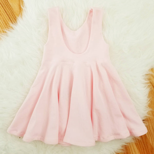 Toddler Girl's Solid Pink Organic Cotton Dress