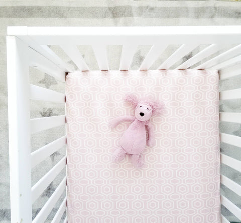 Soft Pink Romantic Girl's Nursery Baby Bedding Crib Sheet