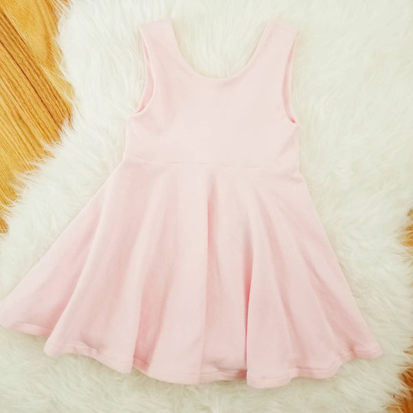 Light Pink Tank Top Twirl Girl's Dress