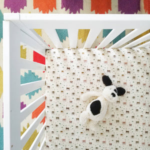 Organic Cotton Llama Print Nursery Baby Crib Sheet