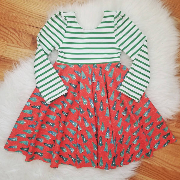 Handmade Girl's Cotton Christmas Dress