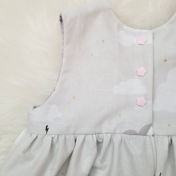 Handmade Magical Unicorn Fantasy Purple Pink Toddler Tank Dress