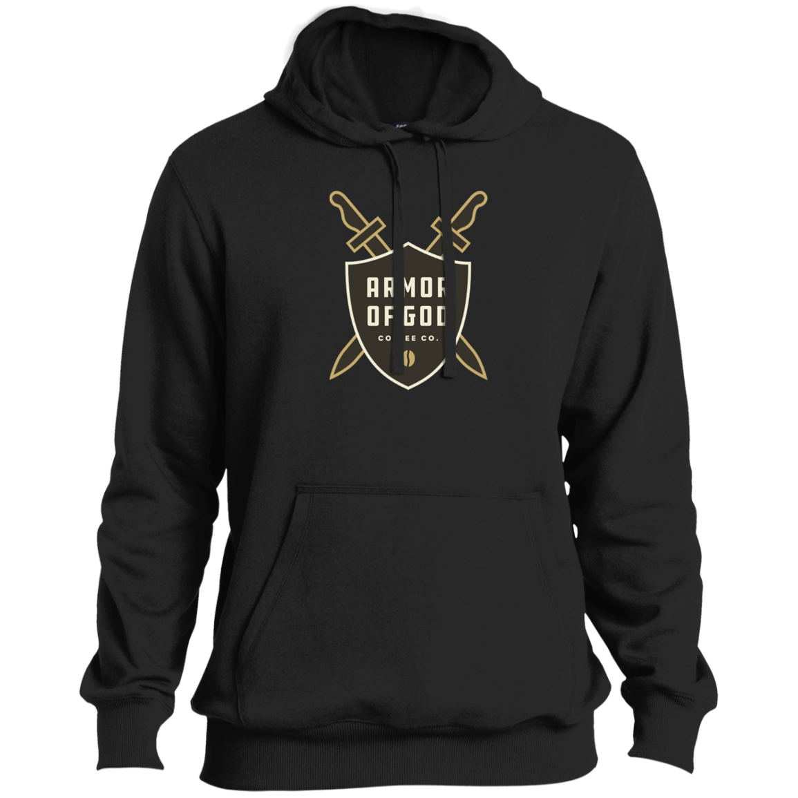 Armor of God Coffee Pullover Hoodie Brown Logo