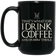 Game of Thrones Inspired, I Drink Coffee and I know things | Black Coffee Mug