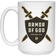 Armor of God Coffee Mug with Brown Logo on 15 oz. White Mug