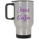 I Run on Jesus and Coffee Silver Stainless Travel Mug