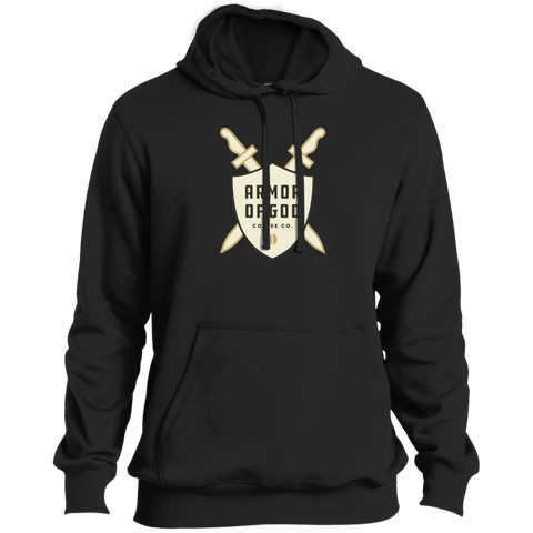 Armor of God Coffee Pullover Hoodie White Logo
