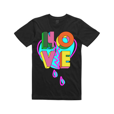 No Love Blocked T-Shirt - Black