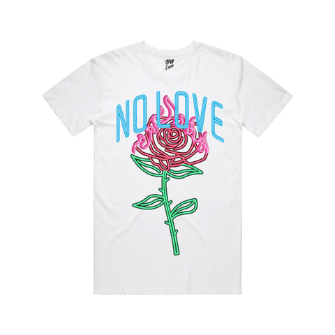 Neon Love T-Shirt - White