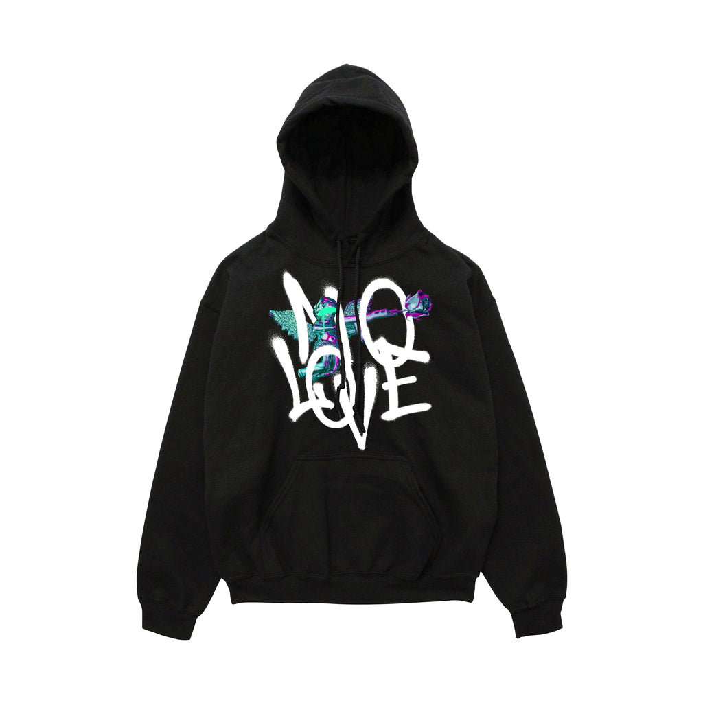 No Love Angel Hoody - Black