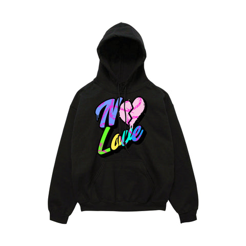 No Love Barbwire Hoody - Black