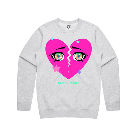 Anime Crew Neck - Heather Grey