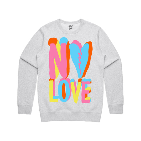 Pastel Crew Neck - Heather Grey