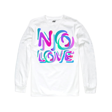 Stencil Long Sleeve - White