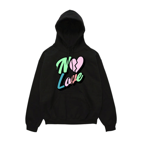 No Love Hoody - Black