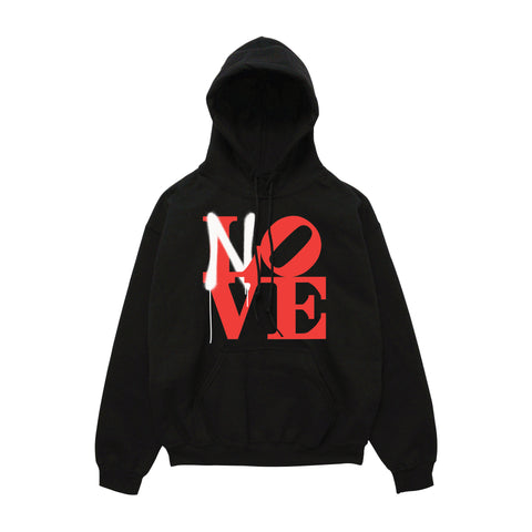 No Love Sprayed Hoody - Black