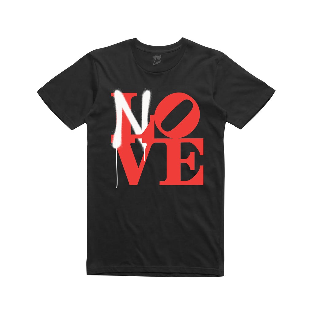 No Love Sprayed T-shirt - Black