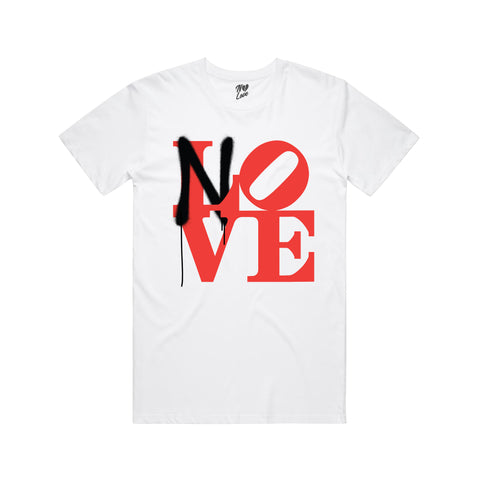 No Love Sprayed T-shirt - White