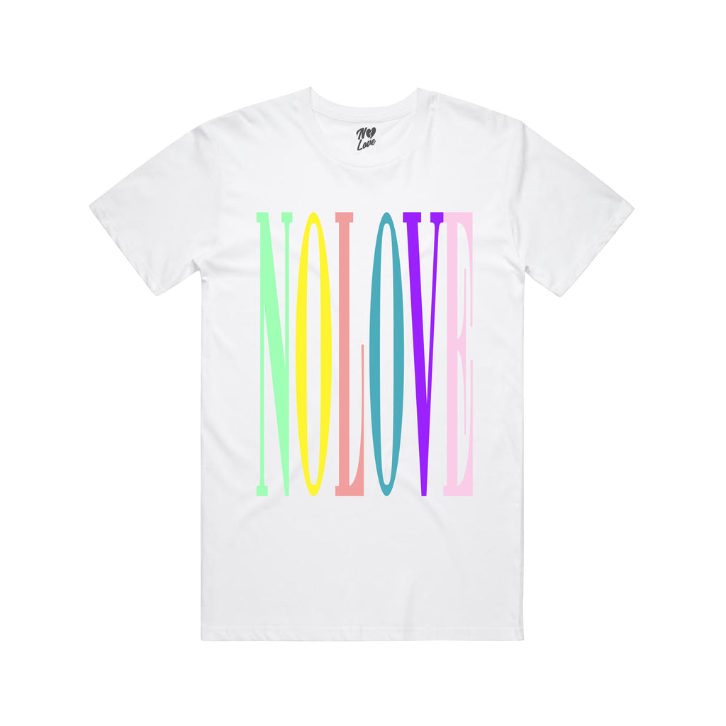 No Love Colors T-shirt - White