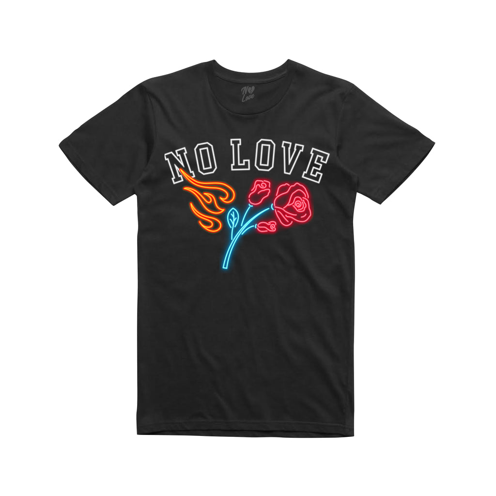 Neon Rose T-shirt - Black