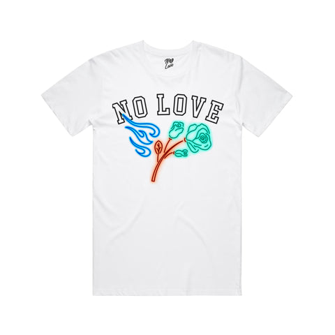 Neon Rose T-shirt - White